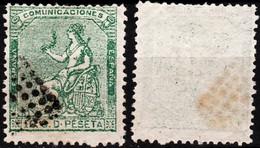 SPAIN 1873 Sitting Hispania Mi.#127. 10c, Used - Oblitérés