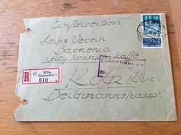 K17 Alliierte Besetzung 1951 R-Ortsbrief Von Köln-Lindenthal - Zona Anglo-Americana