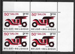 COB 1568 ** - 50e Salon De L'automobile - Bloc De 4 Timbres - Nuevos