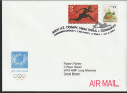 USA Cover 2004 Athens Olympic Games - US Olympic Team Trials In Swimming In Long Beach 2004 (G124-63) - Estate 2004: Atene