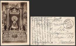 """España - Postal De """"Reus 12/4/54"""" A Barcelona Sin Franqueo Y Con """"Tasa 0'80"""" Manuscrita - 1951-60 Lettres"""