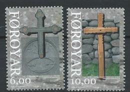 Féroé 2008 N°653/654 Neufs Noël Croix Anciennes - Faroe Islands