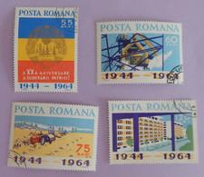 """ROUMANIE YT 2046/2049 OBLITÉRÉS """"LIBERATION""""  ANNÉE 1964 - Gebraucht"""