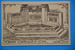 Gedinne: Carte Illustrée Sur Le Monument Commémoratif De Gedinne - Gedinne