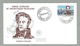 1968 ENVELOPPE PREMIER JOUR TIMBRE TAAF / FSAT N° 25 DUMONT D'URVILLE - Cartas