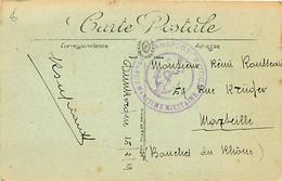 Cachet Transit Maritime Militaire - Transport YUCCA Sur Cpa 1919 - Seepost