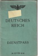 GERMANY Service Passport 1941 Passeport De Service  ALLEMAGNE - Dienstpaß - Historical Documents