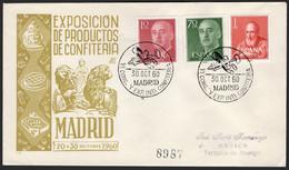 """España - Edi O 1143 + 1151 - Mat Gomis 587 """"Madrid 30/10/60 VI Congreso Internacional Confitería"""" - 1951-60 Lettres"""