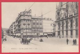CPA-76- ROUEN -1900- Pionnière- Rue Jeanne D'Arc -Esplanade Du Palais De Justice- Animation *SUP* 2 Scans - Rouen