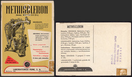 "España - Tarjeta Ilustrada ""Methiscleron - Laboratorios Funk"" Circulada Como Impresos - 1951-60 Lettres"