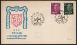 España - Edi O 1145 - 1148 - Sobre De Primer Día - 1951-60 Lettres