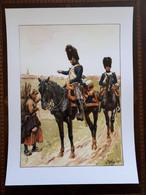 Affiche : Officiers De Grenadiers à Cheval De La Garde Premier Empire - Dokumente