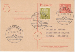 BRD - Essen 1954 Dt. Bergbau-Ausstellung SST Ganzsache+Zusatz N. Berlin - Sin Clasificación