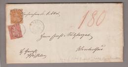 CH Heimat ZH Pfäffikon 1869-01-23 Nachnahme Nach Winterthur Mit 20Rp.orange + 10Rp.rot Sitzende Helvetia(mehr Seiten) - Briefe U. Dokumente