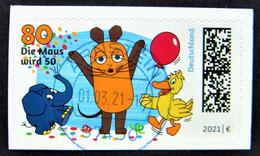 """Bund/BRD März 2021 1 Skl Sondermarke """"50 Jahre Sendung Mit Der Maus"""" MiNr 3597, Aus FB 105,ersttagsgestempelt - Usados"""