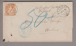 CH Heimat LU Menznau 1876-01-29 Nachnahmebrief Mit 20Rp.orange Sitzende Helvetia - Briefe U. Dokumente