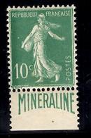 France Minéraline YT N° 188A Neuf ** MNH. Gomme D'origine. TB. A Saisir! - Nuovi