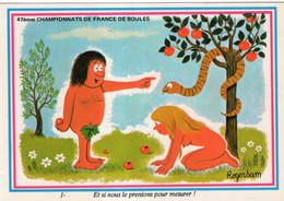 Carte De Roger Sam Dessinateur D'humour : 47èmes Championnats De France De Boules - Boule/Pétanque