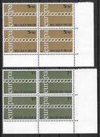 COB 1578/1579 ** - Europa 1971 - Bloc De 4 Timbres - Nuevos