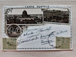 Israel Jerusalem Mosquée D'Omar Vue De Bethleem 19th Century Circulate Litho Postcard  Circuler TURQUIE TURKEY Stamp - Israel
