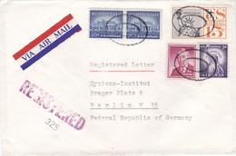 ETATS-UNIS : Lettre En Recommandé Par Avion Du New Jersey Pour Berlin Ouest 1960 - Briefe U. Dokumente