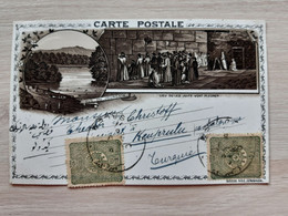 Israel Jerusalem Vue Du Jourdain 19th Century Circulate Litho Postcard  Circuler TURQUIE TURKEY Stamp - Israel