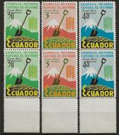 EQUATEUR: **, PA N° YT 399 à 401 X 2, Série En Paires, TB - Ecuador