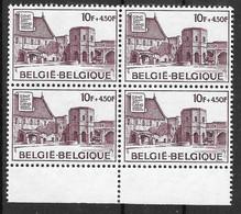 COB 1760 ** - Abbaye Saint-Bavon à Gand - Bloc De 4 Timbres - Nuevos
