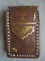Vintage - Packaging Bijou Or 22 Carats - Etui à Cigarettes En Cuir - Altri