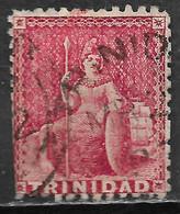 1863 TRINIDAD USED STAMP (Michel # 19A) CV €2.20 - Trinidad & Tobago (...-1961)