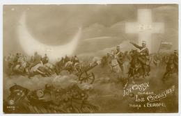 1912 - 1913. Guerre Des Balkans.La Croix Chasse Le Croissant Hors D'Europe. - Guerres - Autres