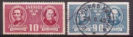 Suecia - Fx. 4348 - Yv. 292/3 - Educacion Primaria - 1941 - Ø - Used Stamps