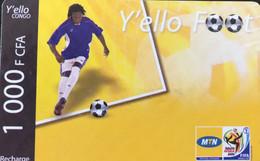 CONGO  -  Prepaid  Y'ello Foot  -  1000 F CFA - Congo