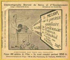 1922 Rare Réclame MELIOR CINEMATOGRAPHE De SALON & ENSEIGNEMENT - Film Projectors