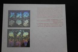 """China, Hologramm Folder 1980-1991; """"Tierkreiszeichen"""", """"Animals Of The Year"""" - Holograms"""