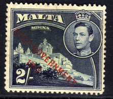 Malta 1948 - 53 KGV1 2/-d Self Govt 1947 Ovpt MM SG 245 ( G263 ) - Malta (...-1964)