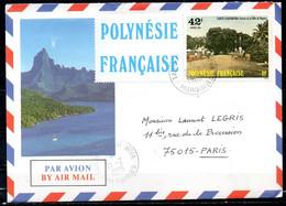POLYNESIE. N°233 + Vignette De 1985 Sur Enveloppe Ayant Circulé. Tahiti D'autrefois. - Briefe U. Dokumente