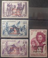 R2452/199 - 1941 - COLONIES FR. - MAURITANIE - SERIE COMPLETE - N°119 à 122 NEUFS* - Neufs
