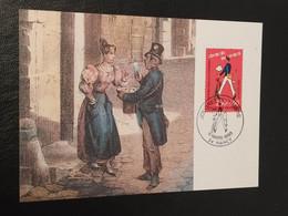 """Carte Journée Du Timbre """" Le Facteur Et Son Vélo """" Nancy 1993 Timbre N° 2792 - 1990-1999"""
