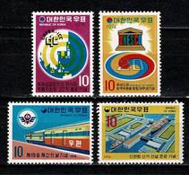 Korea 1974  Yv 787/788/789**, 792**   MNH - Korea, South