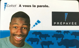 CONGO  -  Prepaid  - Celtel - A Vous La Parole  - Brillant - Congo