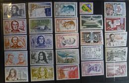 FRANCE 1959 Année Quasi Complète (37 Timbres Sur 41) 32 Timbres Neufs ** / 5 Timbres Neufs * - 1950-1959