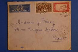 L10  ALGERIE BELLE LETTRE 1938 PAR AVION ALGER POUR PARIS  + AFFRANCH. PLAISANT - Lettres & Documents