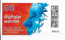 2021 Allem. Fed. Deutschland Germany Mi. 3592 **MNH   Digitaler Wandel.   Einzelmarke Aus Folienblatt 104 - Nuevos