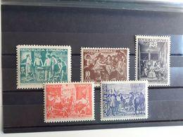 SO60- MNH** NUEVOS SERIE COMPLETA ESPAÑA 1938 REPUBLICA  29/33 BENEFICENCIA BENEFICOS, CUADROS DE VELAZQUEZ.HOGAR - 1931-50 Unused Stamps