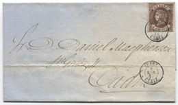 1863. Envuelta De Jerez A Cadiz, Al Dorso, Llegada - Briefe U. Dokumente
