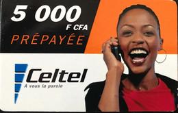 CONGO  -  Prepaid  - Celtel  -  Woman  -  5 000 CFA - Congo