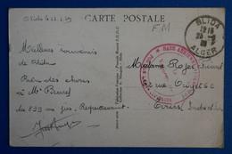 L10 ALGERIE BELLE CARTE 1939 FM  ALGER BLIDA  POUR TOURS FRANCE + AFFRANCH. INTERESSANT - Lettres & Documents