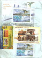 INDIA R COVER LANDMARK BRIDGES SLOVENIA JOINT ISSUE HERITAGE MONUMENTS PRESERVATION BY INTACH - Cartas