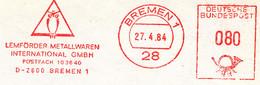 Freistempel Kleiner Ausschnitt 381 Eule Bremen - Marcofilia - EMA ( Maquina De Huellas A Franquear)